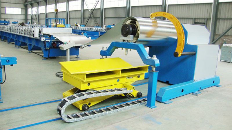 10t Automatic Decoiler with Coil Cart & Pressing Arm