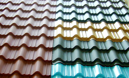 Sample Tile of Metal Roofing Tile Former